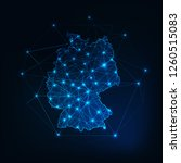 germany map outline with stars... | Shutterstock .eps vector #1260515083