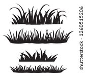 set of grass  black silhouettes ...   Shutterstock .eps vector #1260515206