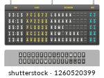 mechanical realistic flip... | Shutterstock .eps vector #1260520399