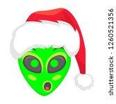 alien face emoji. alien green...   Shutterstock .eps vector #1260521356