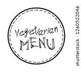 vegan diet label emblem... | Shutterstock .eps vector #1260522046