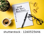 new year resolution 2019 on... | Shutterstock . vector #1260525646