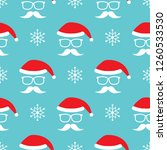 vector seamless pattern with... | Shutterstock .eps vector #1260533530