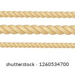 nautical rope. round and square ... | Shutterstock .eps vector #1260534700