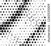 radial dot pattern or halftone... | Shutterstock .eps vector #1260535009