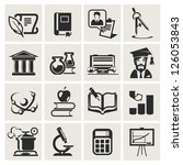 education. set of icons. | Shutterstock .eps vector #126053843