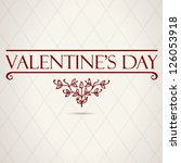 decorated red valentine's day... | Shutterstock .eps vector #126053918