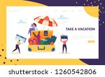 happy business characters pack... | Shutterstock .eps vector #1260542806