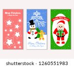 vector illustration of merry... | Shutterstock .eps vector #1260551983