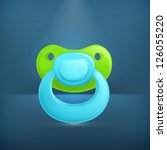 pacifier  vector icon | Shutterstock .eps vector #126055220