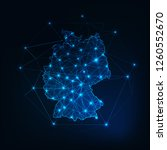 germany map outline with stars... | Shutterstock .eps vector #1260552670