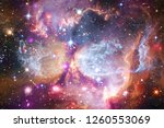 nebulae an interstellar cloud... | Shutterstock . vector #1260553069
