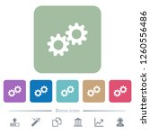 collaboration white flat icons... | Shutterstock .eps vector #1260556486