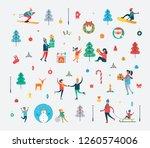 new year pattern of happy... | Shutterstock . vector #1260574006