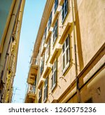 old town architecture  corfu ... | Shutterstock . vector #1260575236