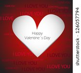 valentine    s day card with... | Shutterstock .eps vector #126057794