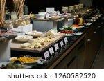 catering buffet food in hotel... | Shutterstock . vector #1260582520