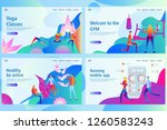 web landing page template for... | Shutterstock .eps vector #1260583243