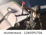 lady justice  themis  statue of ... | Shutterstock . vector #1260591706