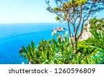 exotic sea view on corfu island ...   Shutterstock . vector #1260596809