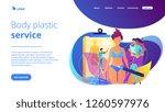 plastic surgeons doing pencil... | Shutterstock .eps vector #1260597976