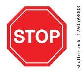 red stop sign on white... | Shutterstock .eps vector #1260598003