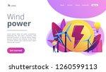 engineer working with wind... | Shutterstock .eps vector #1260599113