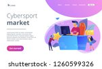 professional e sport player at... | Shutterstock .eps vector #1260599326