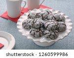 fresh baked chocolate crinkle... | Shutterstock . vector #1260599986