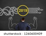 solution concepts new year 2019 ... | Shutterstock . vector #1260600409