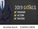 new year 2019 resolutions on... | Shutterstock . vector #1260611806