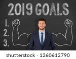 new year 2019 goals over... | Shutterstock . vector #1260612790
