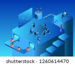 work team isometric flat design ... | Shutterstock .eps vector #1260614470