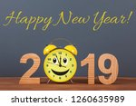 happy new year concepts 2019... | Shutterstock . vector #1260635989