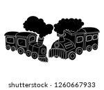 black and white line art ...   Shutterstock .eps vector #1260667933