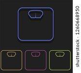 scales icon in multi color....