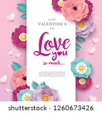 happy valentine's day greetings ... | Shutterstock .eps vector #1260673426