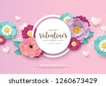 happy valentine's day greetings ... | Shutterstock .eps vector #1260673429
