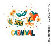 carnival hand lettering text as ... | Shutterstock .eps vector #1260674440