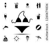 swimsuit icon. simple glyph...