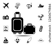 baggage icon. simple glyph...