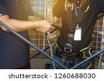 working at height equipment.... | Shutterstock . vector #1260688030