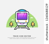 train icon color design vector  ... | Shutterstock .eps vector #1260688129