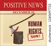 special positive news about... | Shutterstock .eps vector #1260697723