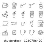 outline set of cafe icon ... | Shutterstock .eps vector #1260706420