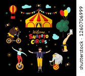 circus  carnival elements and... | Shutterstock .eps vector #1260706999