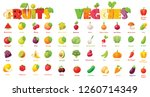 vector fruits and vegetables... | Shutterstock .eps vector #1260714349