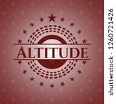 altitude realistic red emblem | Shutterstock .eps vector #1260721426