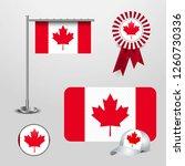 canada flag set | Shutterstock .eps vector #1260730336