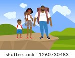 vector illustration of a happy... | Shutterstock .eps vector #1260730483